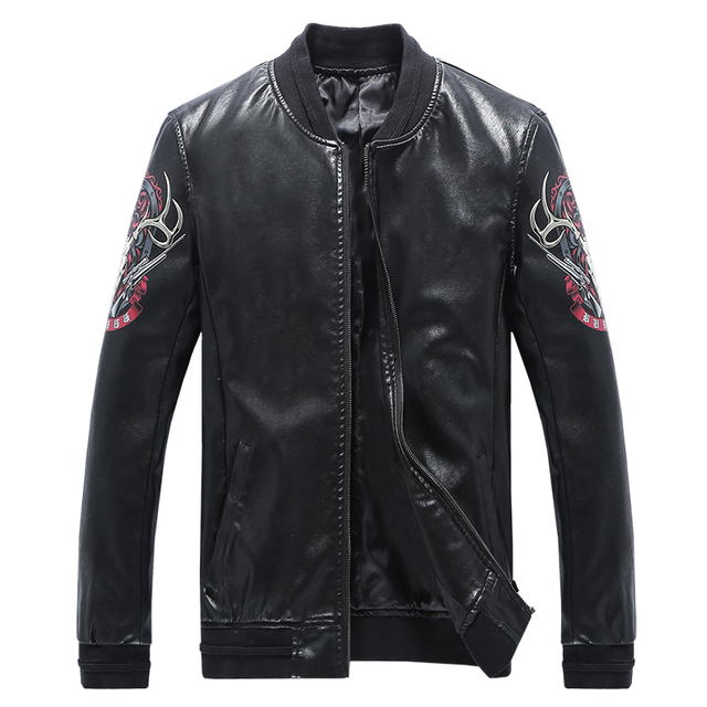 New Arrival Famous Brand Leather Jacket Men Top Quality Chaquetas Hombre 2016 5XL Mens Leather Jackets and Coats Hot Sale