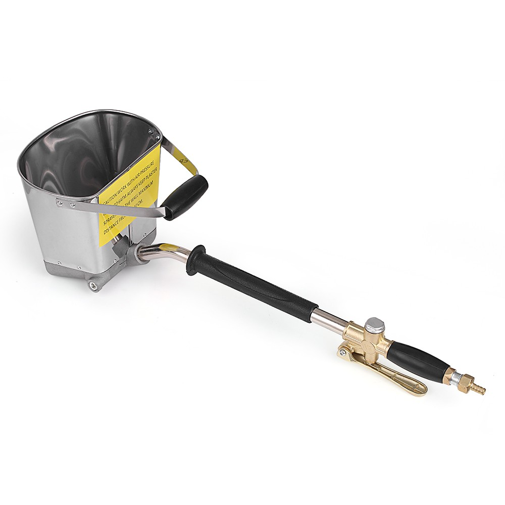 Tools : Spray Gun for Painting Walls Cement Mortar Sprayer Spray Gun Hopper Gun Render Sprayer Hopper Bucket Gypsum Gun 64cm