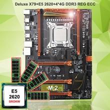 Горячие HUANAN Чжи deluxe X79 игровой набор материнская плата Процессор Intel Xeon E5 2620 SROKW Оперативная память 16 г (4*4 г) DDR3 ECC REG все испытания с AIDA64