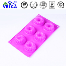 Hot sales 6 Holes silicone mold Fondant Cake Decorating Tools Silicone Soap Mold Silicone Cake Mold