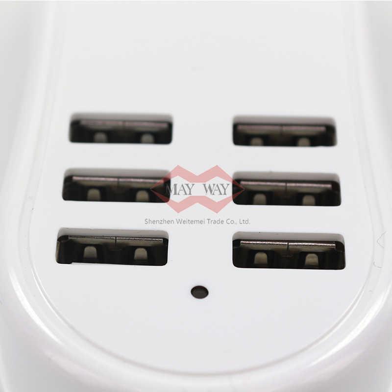 Szybkie ładowanie 6 porty USB kabel przedłużający uniwersalny przenośny ładowarka podróży pracę do domu Adapter taśmy z ue wtyczka UK US