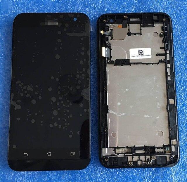 ЖК-экран + Сенсорный дигитайзер с рамкой Для 5.0 ''Asus ZenFone 2 Laser ZE500KL ME500KL Z00ED черный бесплатная доставка
