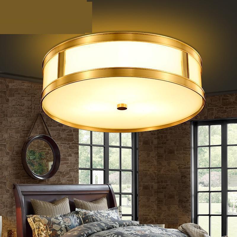 Messing Land Stijl Koper Plafond Lampen Eetkamer Lamp Led Plafond ...