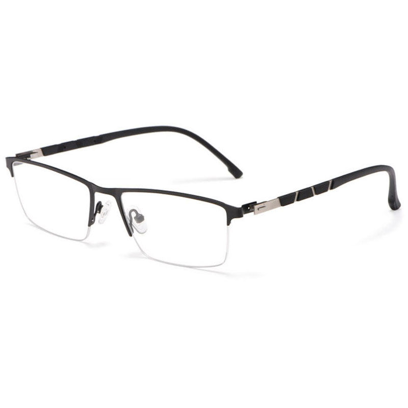 Image 3 - Reven Jate P9859 Optical Business Titanium Eyeglasses Frame For Men Eyewear Semi Rimless Glasses with 4 Optional Colors-in Men's Eyewear Frames from Apparel Accessories