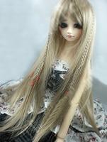 D01 P181 children handmade toy 1/3 Doll Accessories BJD/SD doll wig High temperature wire long hair Fine cut straight hair cream