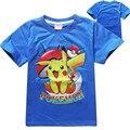Niños t shirt pokemon go kids t-shirt ropa camisa de los niños de las tapas de ropa de los muchachos de dibujos animados pokemon pikachu camiseta menino