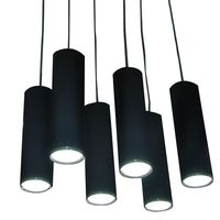 Modern LED Bar Pendent Lamp Fashion Creative Black Aluminum Dining Room Pendent Lights Kitchen Hallway Balcony