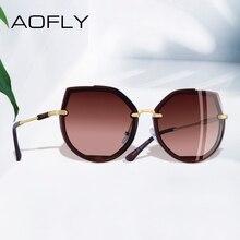 AOFLY marka tasarım 2019 moda polarize güneş gözlüğü güneş gözlüğü kadın Vintage kedi gözü güneş gözlüğü kadın Shades kadın gözlük UV400 A115