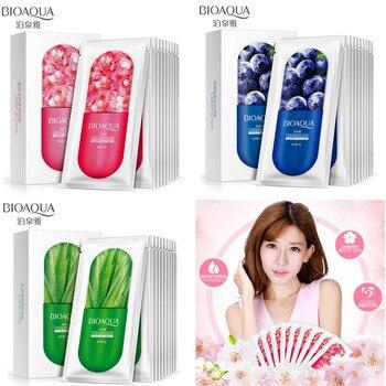 BIOAQUA 3pcs/lot skin care natural plant extract facial mask moisturizing anti-wrinkle sleep