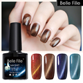 Belle Fille Cat Eye UV Gel Bling Glitter 3D Cat Eyes Color Gel Nail Polish Sook Off Magnetic Gel Magnet Effect Need Lamp To Dry