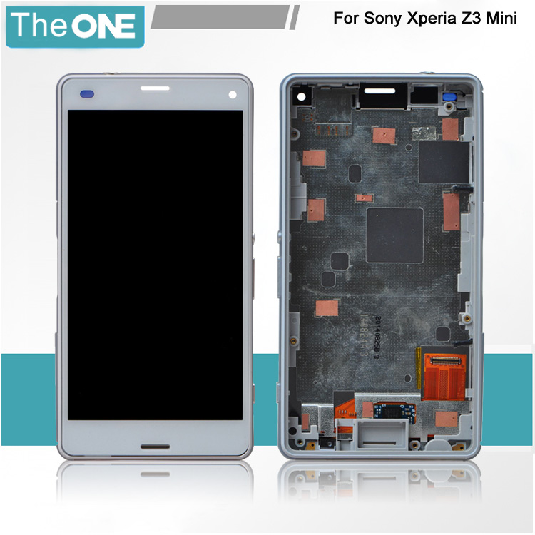 ФОТО 10PCS/LOT 100% Test LCD Display For Sony For Xperia Z3 Mini With Touch Screen Digitizer Assembly Complete with Frame Free DHL