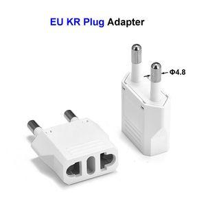 Image 1 - 10pcs EU KR Plug Travel Adapter American CN US To EU KR Euro European Power Adapter Electrical Plug Converter Sockets Outlet