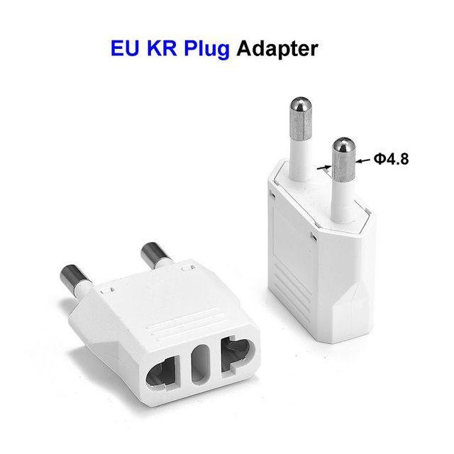10pcs EU KR Plug Travel Adapter American CN US To EU KR Euro European Power Adapter Electrical Plug Converter Sockets Outlet
