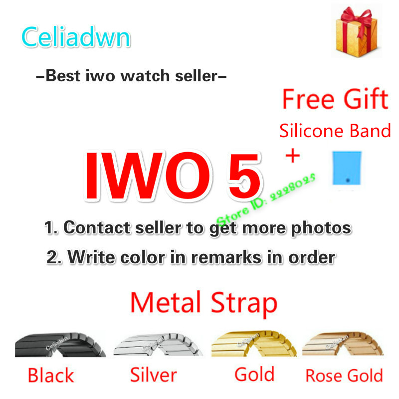 цены New IWO 5 Smart Watch MTK2502C IWO 3 Upgrade Smartwatch Heart Rate Monitor Bluetooth Notifier Watch For IOS Android VS IWO 4/3/2