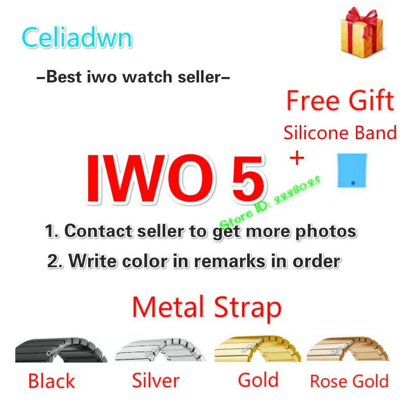 New IWO 5 Smart Watch MTK2502C IWO 3 Upgrade Smartwatch Heart Rate Monitor Bluetooth Notifier Watch For IOS Android VS IWO 4/3/2 celiadwn bluetooth smart watch iwo 4 smartwatch 42mm smaller iwo 1 version case for ios android phone vs iwo 3