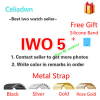 New IWO 5 Smart Watch MTK2502C IWO 3 Upgrade Smartwatch Heart Rate Monitor Bluetooth Notifier Watch For IOS Android VS IWO 4/3/2