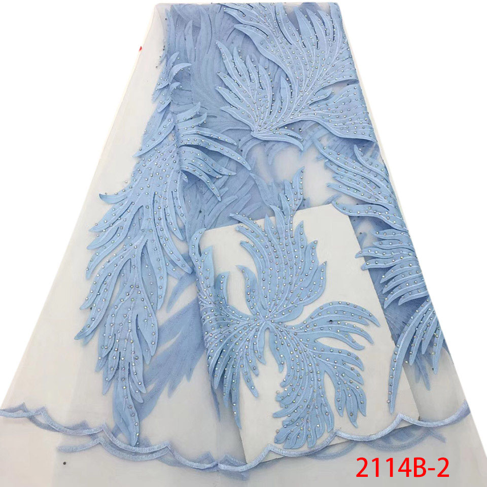 Latest African Stones Lace Fabric 2018 High Quality Lace Fashion Nigerian Net Lace Fabrics Tulle French