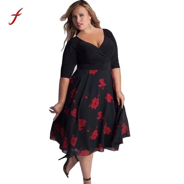 Women's Floral Cocktail Dress 2018