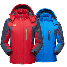 2019 Men's Winter Inner Fleece Waterproof Jacket Outdoor Sport Warm Brand Coat Hiking Camping Trekking Skiing Jackets Plus size недорого