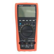 Vici VC97 ЖК-дисплей 3 3/4 диапазон Авто Цифровой мультиметр тестер вольт Амперметр Ом аналоговый бар руководство