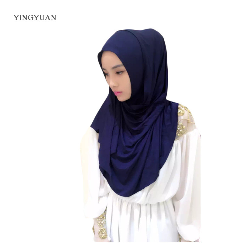 Hot Deals³Scarves Hijabs Shawl With1-Undescarf Muslim Fashion High-Quality Women of Solid 1TJ57