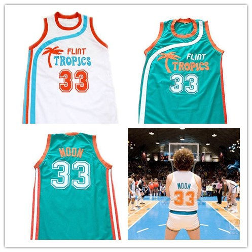 Jackie Moon Flint Tropics Semi Pro Movie Basketball Jersey 9df32cd42