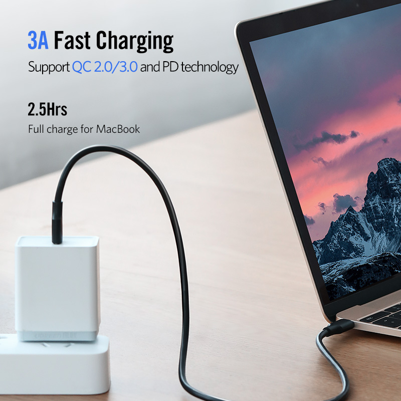 USB type C PD power delivery phone cable 20V 3A 60W fast quick charge data transmission for Macbook Samsung S9 Huawei Mate 20 in Mobile Phone Cables from Cellphones Telecommunications
