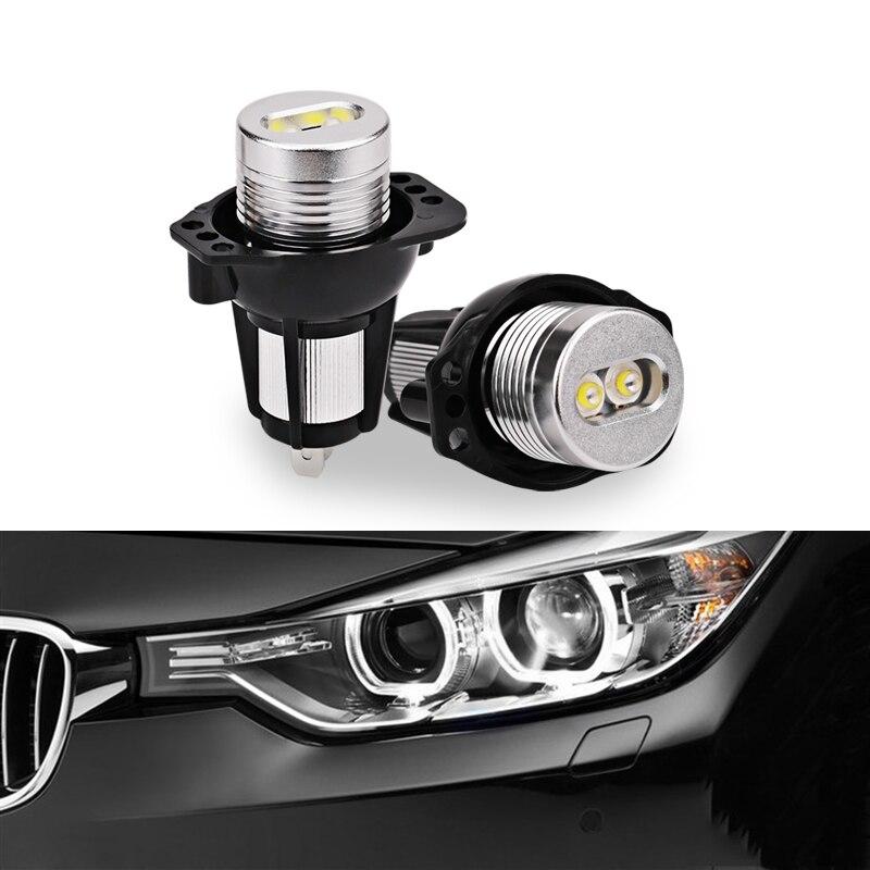 2шт для BMW привело глаза Ангела 2*6w Белый 6000K светодиодные маркер глаза Ангела для BMW Е90 E91 325 спортивный модель 330i 335i 328i 330xi 325xi 328xi 335xi