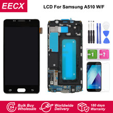 A510 LCD For Samsung Galaxy A5 2016 A510 A510F A510M SM-A510F LCD Display Touch Screen Digitizer w/ Frame(China)