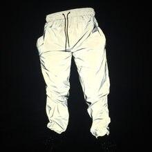 Otoño de los hombres casuales pantalones reflectantes hip hop camisetas de  las mujeres la reflectante hip-hop pantalones de noch. a5380fd2b65