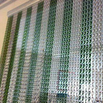 Premium Extra Large Fly Blind Polished Aluminium Chain Insect Screen