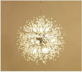 Бесплатная доставка хрустальная Подвесная лампа D60cm Золотой/Хромированный подвесной светильник для столовой гостиной подвесное Скандинав...