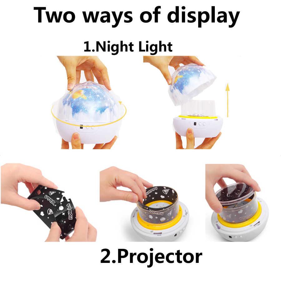Вращающаяся Вселенная проектор планеты Солнечная системная лампа волшебное Звездное небо Проектор светится в темноте детская Спящая игрушка для декора дома