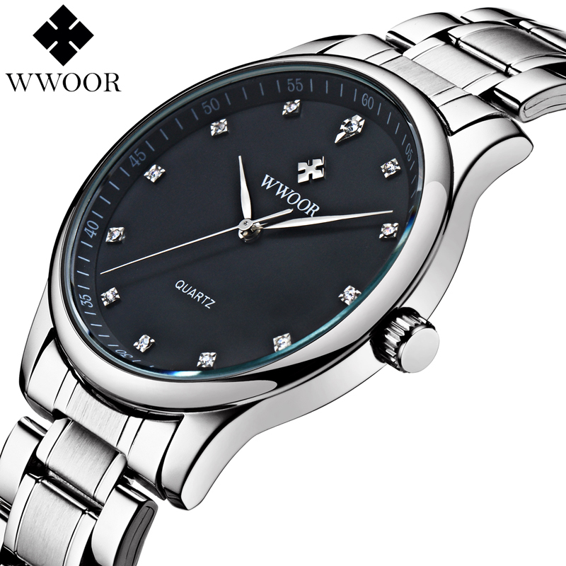 2017 New Brand Men Watches Men's Waterproof Casual Quartz Watch Diamonds Hour Stainless Steel Sports Wrist Watch Male Relogio sewor new arrival luxury brand men watches men s casual automatic mechanical watches diamonds hour stainless steel sports watch