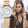 SINOBI Super Fina Malha de Aço Inoxidável de Ouro Relógios Mulher Relógio de Pulso Das Mulheres Top Marca de Luxo Relógio Ocasional Senhora Relogio feminino
