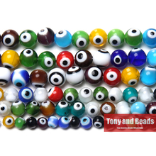 Free Shipping Multi Colors Evil Eye Lampwork Glass Beads 6 8 10mm Pick Size For Jewelry Making LGB4