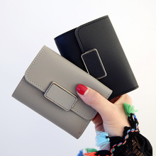 купить 2017 New fashion women wallet hasp clutch purses female fold short  money bag card holder high quality  coin pocket bolsas дешево
