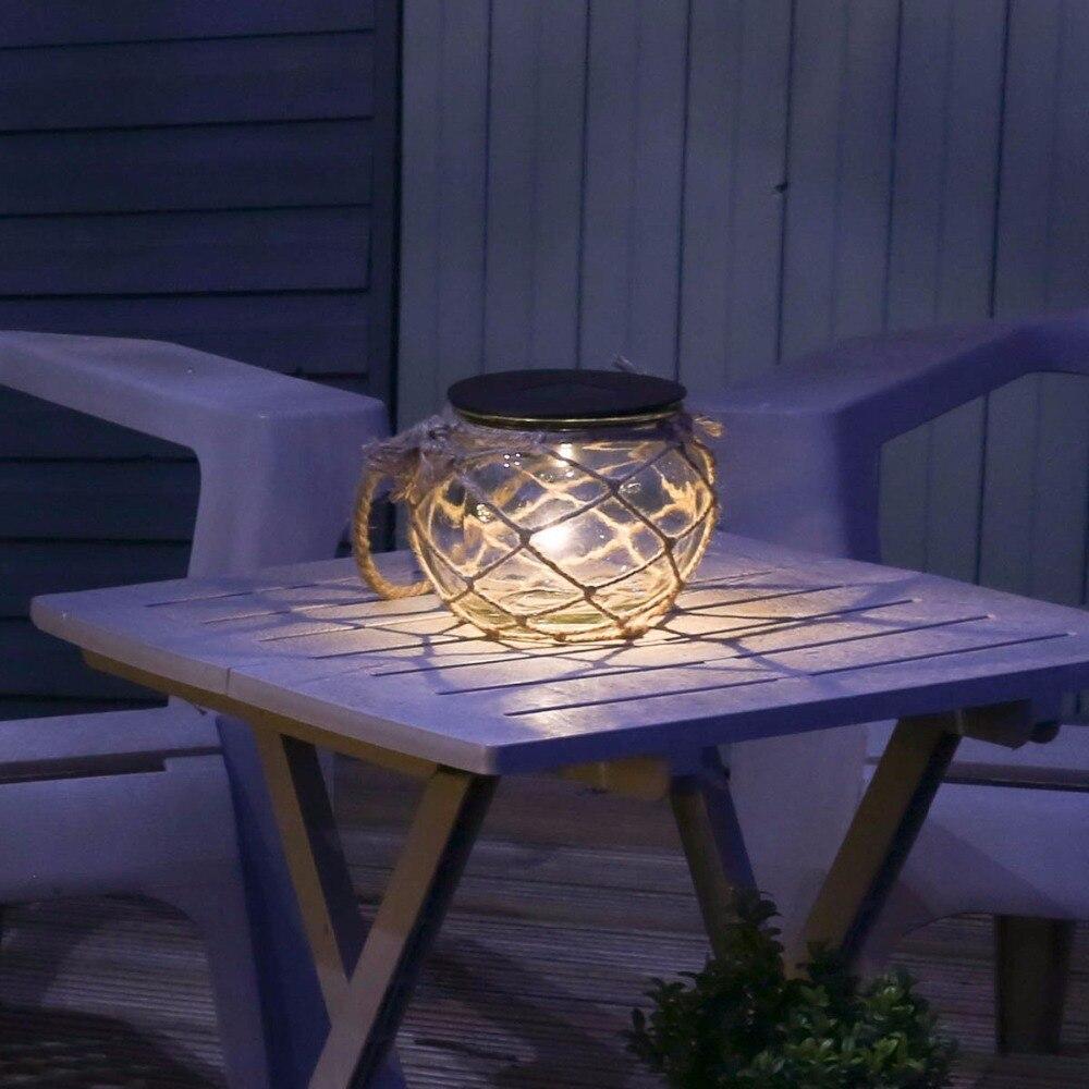 AIMIHUO Solaire LED Lampe En Verre Bo tes Lumi¨res Lanterne étanche