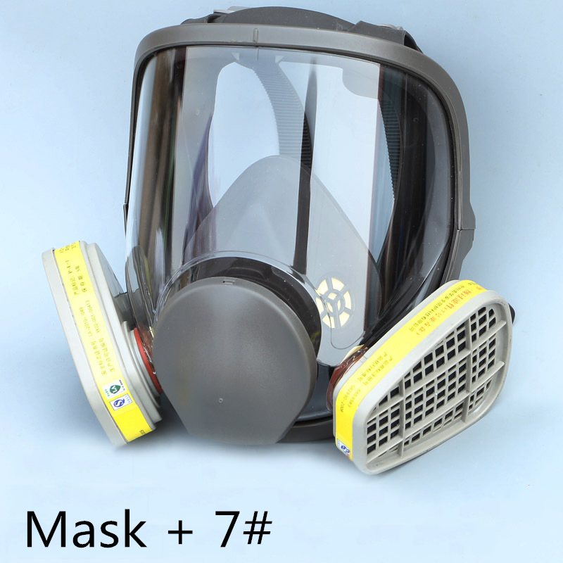 Hot Sale 6800 Gas Mask add  3# 4# Cartridge suit Full Face Facepiece Respirator For Painting Spraying New Arrival 2017 new full face gas mask cartridge organic vapor respirator mask spray paint anti dust formaldehyde fire comparable 6800