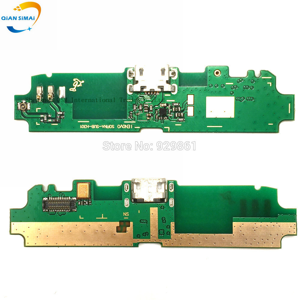 QiAN SiMAi New Original Genuine USB  Charge Board with Flex cable & Microphone for Lenovo S650 Mobile phone + DropShipping