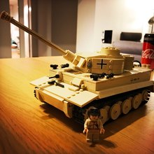 New Tank Series WW2 Germany the Panzerkampfwagen VI Ausf. E Tiger I model Building Block Classic toy Compatible with DIY