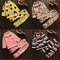 19 Estilo de Invierno Juegos de los Pijamas Para Niños Muchachos de Los Bebés, Además de Terciopelo Espesar Ropa de La Familia Establece Pijama Suave Enfant Ropa de Dormir