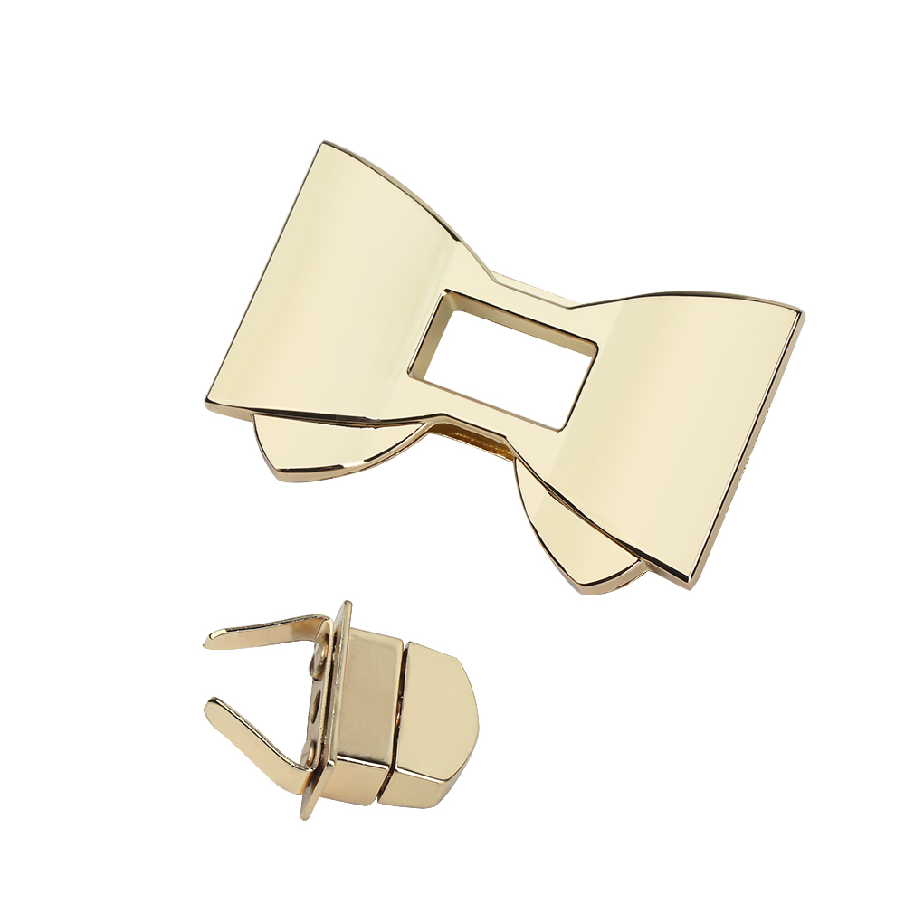 Durable Bow-knot Shape Clasp Turn Locks Twist Lock Practical DIY Bag Hardware Bags Accessories Elegant