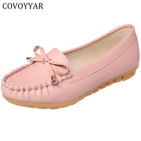 MISSC 2017 Soft Sole Women Shoes Loafers Lovely Bow Comfort Solid Flats Spring Autumn Casual Pink