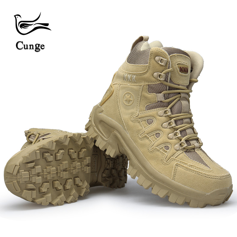 Men s Desert Camouflage Military Tactical Boots Men Fashion Outdoor Shoes Combat Army Boats Boots