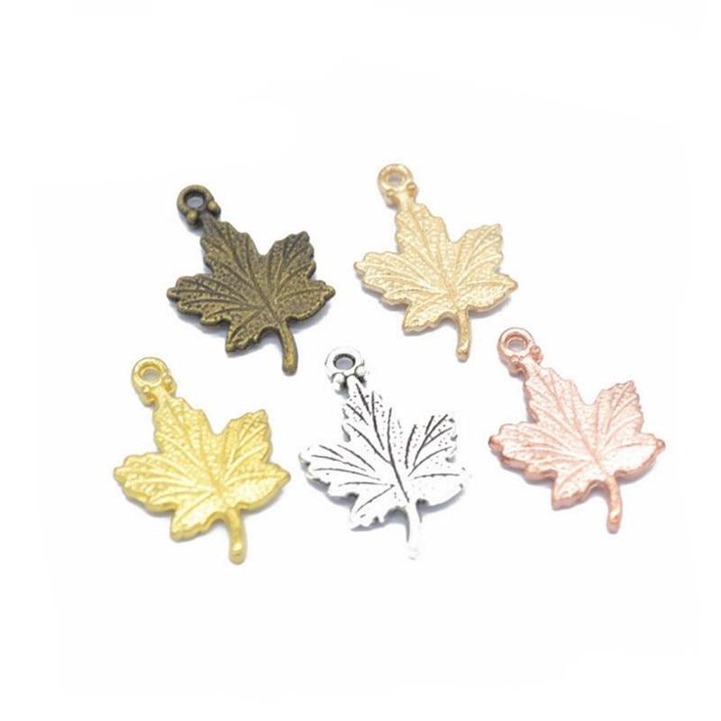 15mm 20 Leaf Charms Antique Bronze