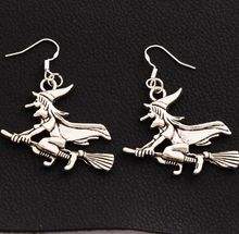 30pair Antique Silver Witches On Broom Earrings 925 Silver Fish Ear Hook Chandelier E224 52.6x37mm characterization of protea witches broom phytoplasma
