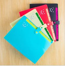 12 Layers Simple Solid A4 Big Capacity Document Bag Business Briefcase Storage File Folder for Papers Stationery Student Gift