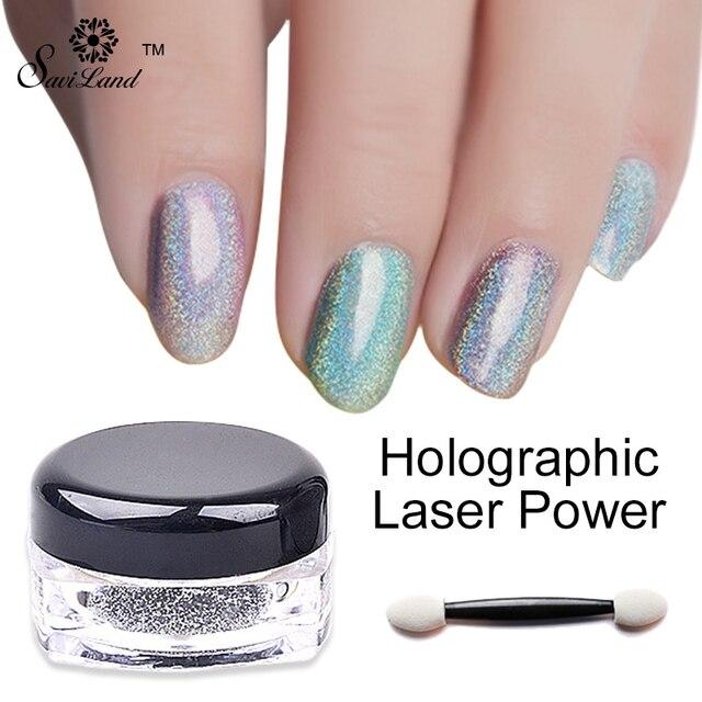 1 g/caja Brillo Del Arco Iris Brillo Espejo de Uñas Nails Art ...