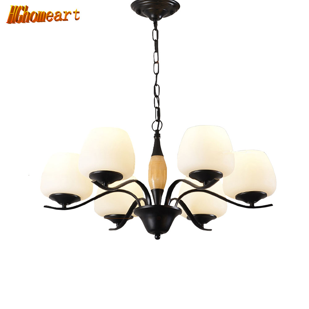 HGHomeart 110V/220V E27 Spiral Iron Classic Contemporary Chandeliers LED Living Room Chandelier Baby Suspension Lamp Lighting high quality princess room farmhouse resin living room chandelier led e27 lamp 110v 220v 3 head suspension chandelier lighting